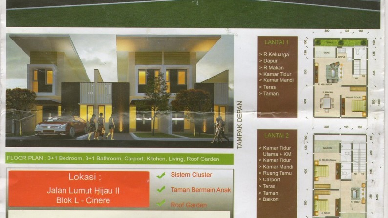 TOWN HOUSE EXCLUSIF DI CINERE *CLUSTER