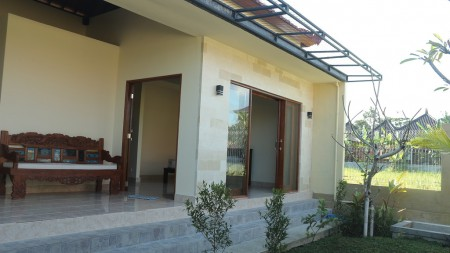 Brand New 1 Bedroom Villa With Beautiful Rice field View for Rent Located Just 5 Minute From Ubud Center