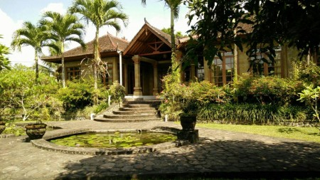 4 Bedroom Villa on 6500 sq m of Freehold Land with Beautifull Rice Field View 15 Minutes from Ubud Center