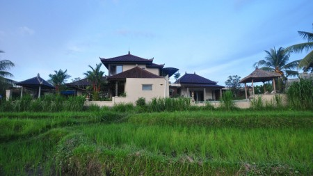 Beautiful 3 Bedroom with Rice field Views on 190 sq m of Freehold Villa for sale in Klungkung