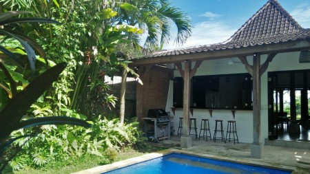 A Beautiful 3 Bedroom Leasehold Villa with Rice Field View For Sale, Located less than 5 minutes from Ubud Center