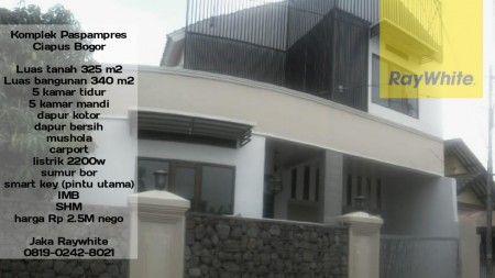 Dijual Rumah 2 lantai Mewah Semi Furnished di Komplek Paspampres Ciapus Bogor