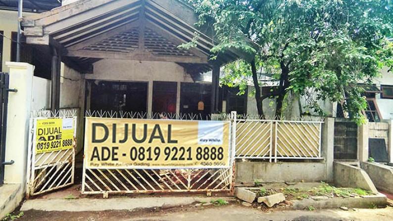 Rumah siap renov Jl Kelapa Nias 8x15m2