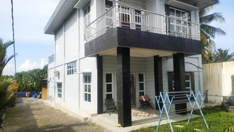Dijual Rumah 2 Lantai + Ruko , Jl. Lintas Timur Km 16