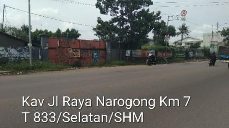 SALE Tanah lokasi sangat strategis Jl Raya Narogong Km 7 Bekasi